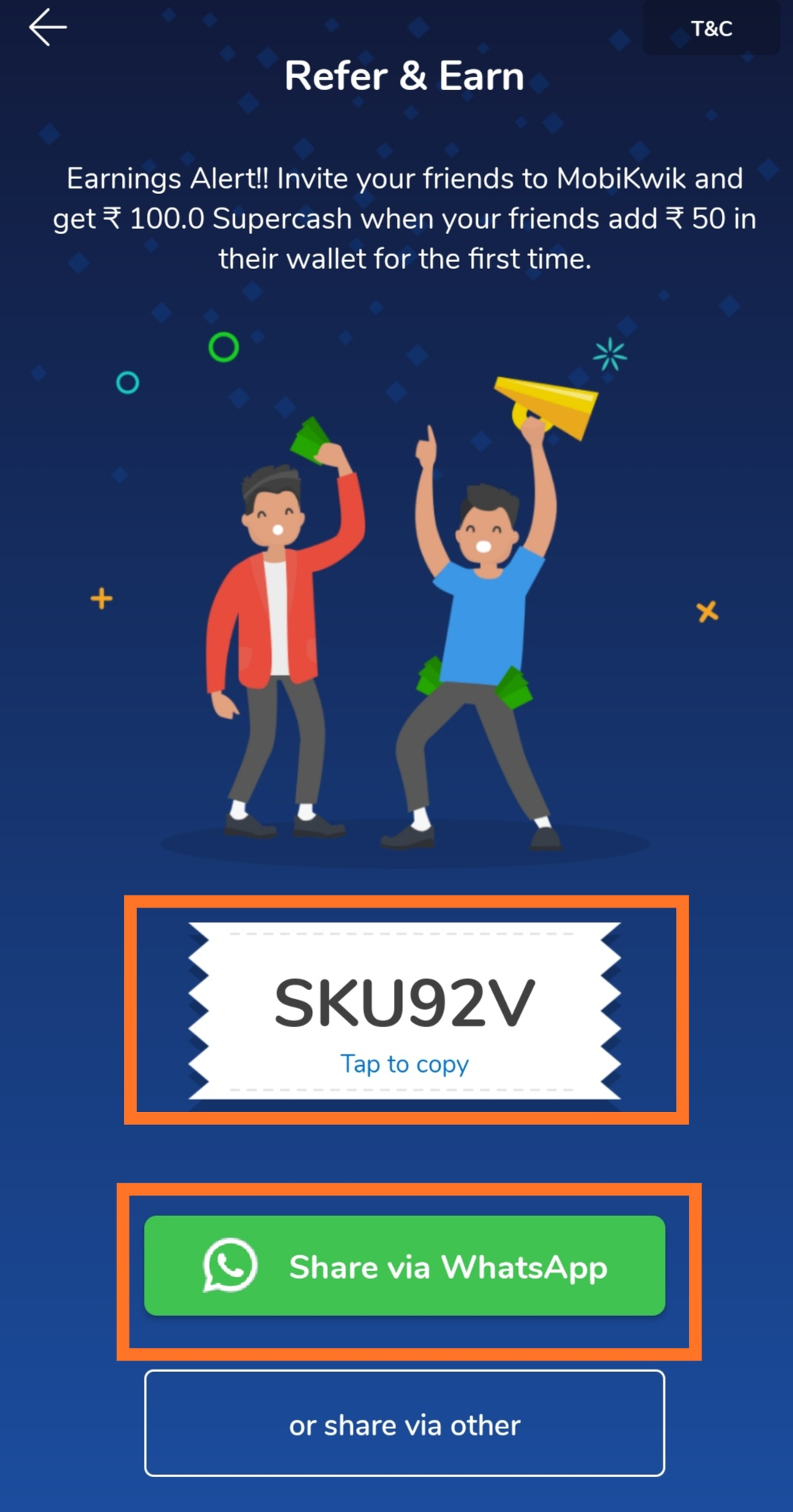 Mobikwik-Referral- Code