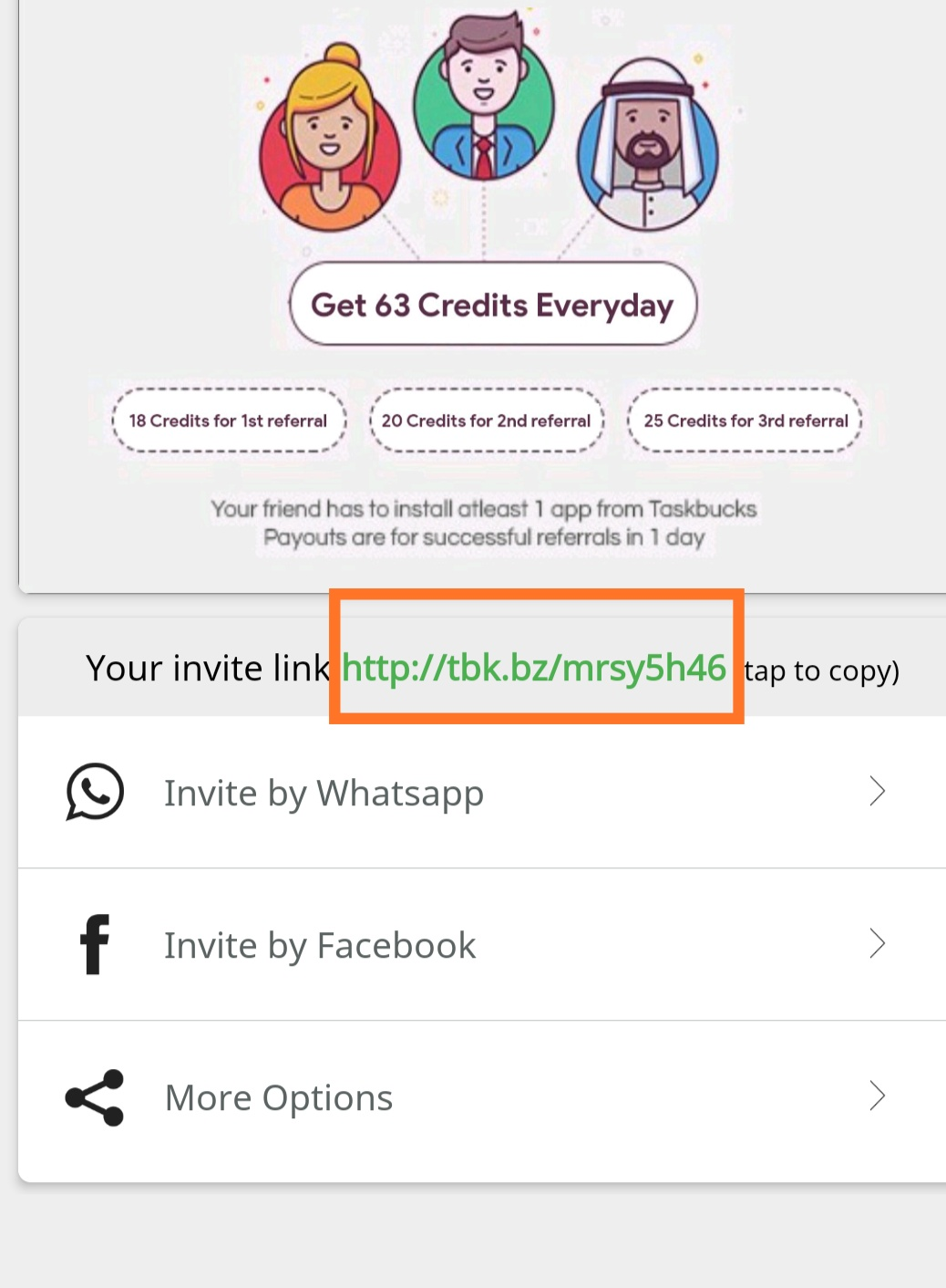 TaskBucks-App-invitation-link