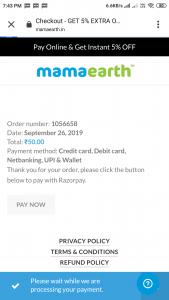 Mamaearth free sample shampoo