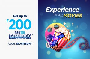 Paytm Movie Offers – Get Up to Rs. 200 Cashback on Online Booking