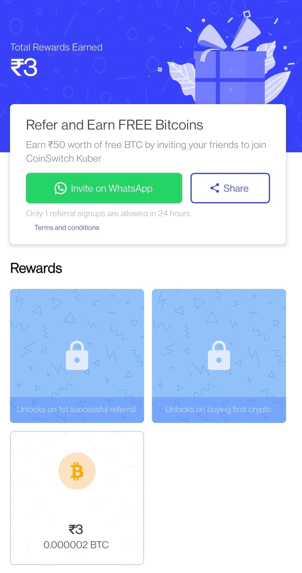 CoinSwitch App Referral Code