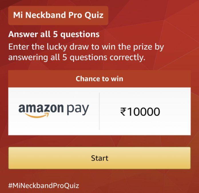 Amazon Mi Neckband Pro Quiz Answers