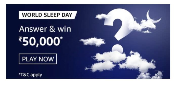 Amazon World Sleep Day Quiz Answers
