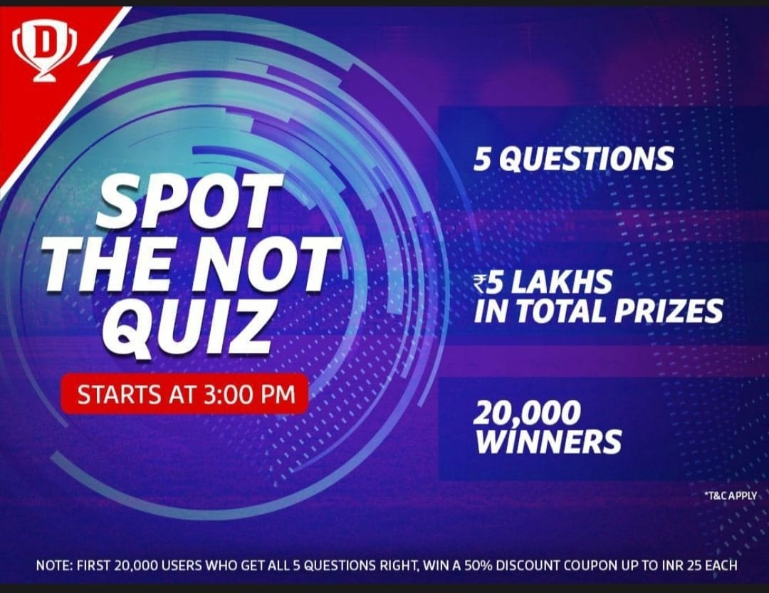 Dream11 Spot The Not Quiz Answers