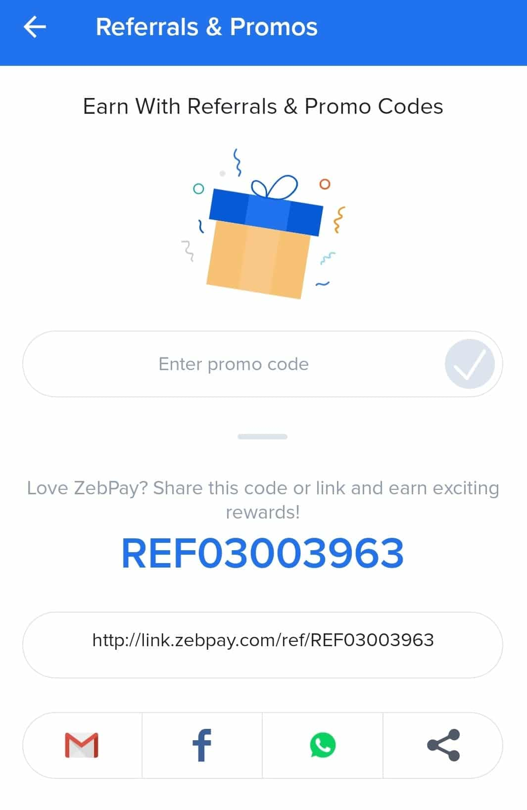 Zebpay Referral Code