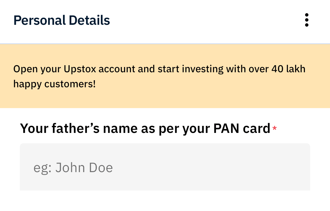 Requirements to Open Account in Upstox